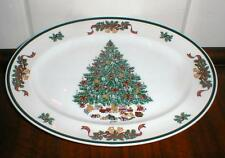 """JOHNSON BROTHERS VICTORIAN CHRISTMAS 12"""" OVAL PLATTER"""