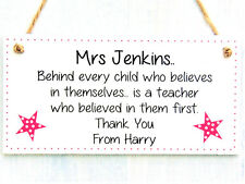 Teacher Gifts Personalised Plaque Pre School Nursery Thank You Leaving Sign