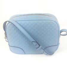 AUTHENTIC New Gucci Bree Blue Micro-Guccissima Leather Crossbody,#449413, NWT