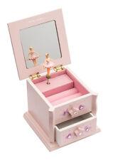 Girls Small Pink Beautiful Ballet Dance Wooden Music Jewellery Box By Katz JB14