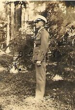 WWII German RP- Luftwaffe Soldier- Officer- Formal White Hat-  Stands in Woods