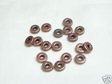 501602***20 rondelles dentées métal cuivré foncé 7x3mm