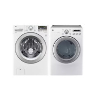 """LG WM3270CW/DLE2250W 27"""" White Washer and Electric Dryer Set #1"""
