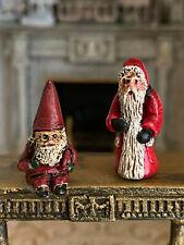 Vintage Miniature Dollhouse Hand Sculpted Pewter Scotland Santa Christmas Gnome