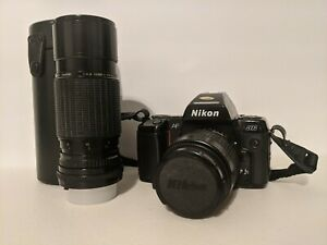 Nikon N8008 35mm SLR Camera w/ 2 Lenses - Not Working