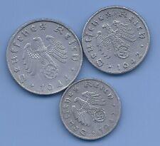 Germany Nazi Third Reich Nazi Swastika Coin Lot of Three coins  WW2 ERA #22