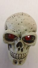 Rare Ruby Eyed Skeleton Skull DIY Shift Knob Undrilled Solid Resin Rat Rod Lever