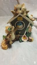 Fitz & Floyd Charming Tails Home Tweet Home figurine Excellent condition Cute!