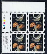 Canada #1673ii(22) 2001 1 cent BOOKBINDING Upper Left Plate Block MNH