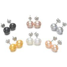 Echte Süßwasser Zuchtperlen Perlen Ohrstecker Ohrsticks aus 925 Sterlingssilber