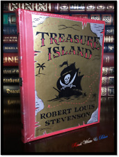 Treasure Island by Stevenson & Illustrated N.C. Wyeth Sealed Leather Collectible