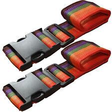 Seguro De Viaje Equipaje Correa Twin Pack, 2 X 1.8m Seguro correas de color Maleta