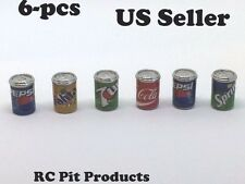 RC 1/10 Scale Accessories 6 Pack Of Soda in Alum Cans for RC Crawlers US Seller