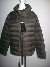 ZARA Feather Down Ultra Light Puffer Black Brown Jacket Size S REF 5071/240