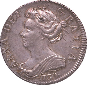 1703 Sixpence Queen Anne