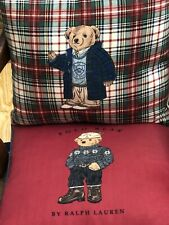 Ralph Lauren Polo Bear Decorative Pillows down-filled Excellent Condition