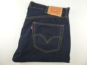 """LEVIS 501 Mens Jeans Blue Striped Cotton Straight Leg W38 L32 Waist 38"""" Leg 32"""""""