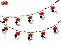 Divorce Party Bunting Banner 15 flags - Broken Chain - by Party Decor