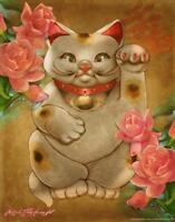 Good Luck by Renee Biertempfel Maneki Neko Art inch Poster 24x36 inch