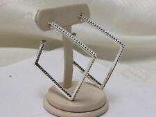 Designer Lagos Sterling Silver Square Hoop Earrings