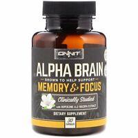 Onnit, Alpha Brain, Memory & Focus, 30 Capsules | AU Stock
