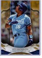 Bo Jackson 2019 Topps Tribute 5x7 Gold #7 /10 Royals