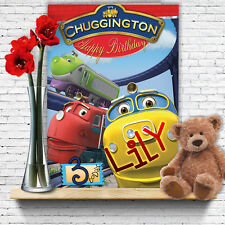 EXTRA LARGE Chuggington **Personalised A4 Birthday Card** Wilson Vee Puffer Pete