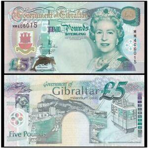 Gibraltar 5 Pound 2000 Millennium Commemorative (UNC) MM 376401