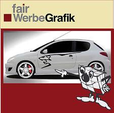 Aufkleber /  Sticker / Seitenbeschriftung / Dekor / Peugeot 206 / 207 / #034
