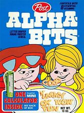 1970s Post Alpha Bits Cereal Box High Quality Metal Magnet 3 x 4 inches 9614