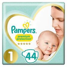 Pampers Premium Protection  Taille 1 Lot De 2 x44 Couches Bébé Jetables 2kg-5kg