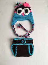 Crochet Newborn Owl Outfit, Handmade Baby Photo Prop, newborn owl photography