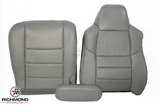 02-03 Ford F250 Crew -Driver Side Complete Replacement Leather Seat Covers Gray