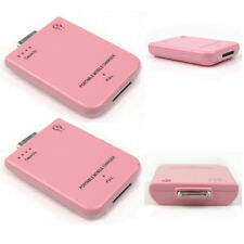 2 2800MAH EXTERNAL PINK BATTERY POWER CHARGER 30-PIN IPHONE 4S 4 3GS IPOD TOUCH