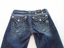 MISS ME WOMENS JEANS BOOT TAG: 25 ACTUAL SIZE 25x32 DESIGNER