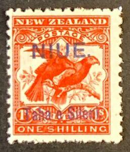 Niue. NZ OPTD 1/- Definitive Stamp. SG16. 1903. Unused Mounted. #AF77.