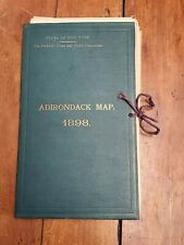 Adirondack Map 1898 Book. Two Large Maps, State Of New York
