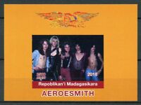 Madagascar 2018 MNH Aerosmith Rock Band 1v Deluxe IMPF S/S Music Stamps
