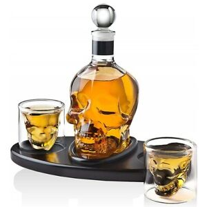 Creative Skull Glass Whisky Vodka Wine Crystal Bottle Spirits Cups Transparent