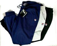 BRAND NEW Women's Fila Joanne Fleece Jogger Sweatpants Retro Black Grey Large XL