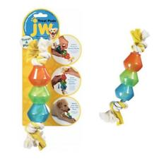 JW ROPE TREAT POD Tugger Tug Toy Interactive Dog Puppy Chew Treating Fetch Stick