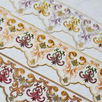 1M Blume Stickerei Spitze Mesh Trim Ribbon Farbe DIY Vorhang Sofakissen Kleidung