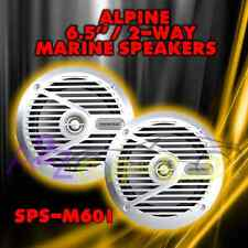 "ALPINE SPS-M601 6.5"" 220W MARINE BOAT FULL RANGE 2 WAY STEREO SPEAKER KIT BOAT"