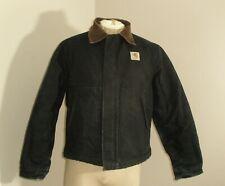 Vtg Mens Carhartt J02 Black ARCTIC QUILT LINED Detroit Duck Canvas Jacket Medium