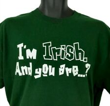 New ListingSt Patrick's Day T Shirt Medium I'm Irish and You Are? Spellout Holiday Green