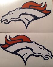 """Denver Broncos Qty Of 2 Decals 4""""x7"""" **FREE SHIPPING**"""