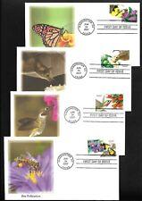 US FDC 2007 Pollination 4 Covers Unaddressed Fleetwood Scott 4153-56 |