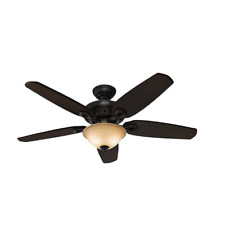 Hunter Fairhaven 52 Inch Indoor Nickel Ceiling Fan with Light Kit & Remote