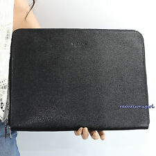 NWT Coach Men's Textured Leather Business Document Tech Portfolio F59119 Black