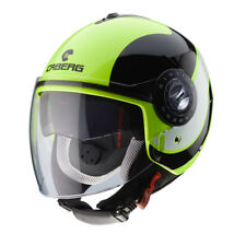 CASQUE DEMI-JET CABERG RIVIERA V3 SWAY YELLOW FLUO - BLACK TAILLE S